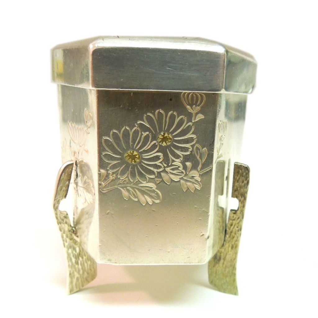 Japanese Silver Handcrafted Trinket Box