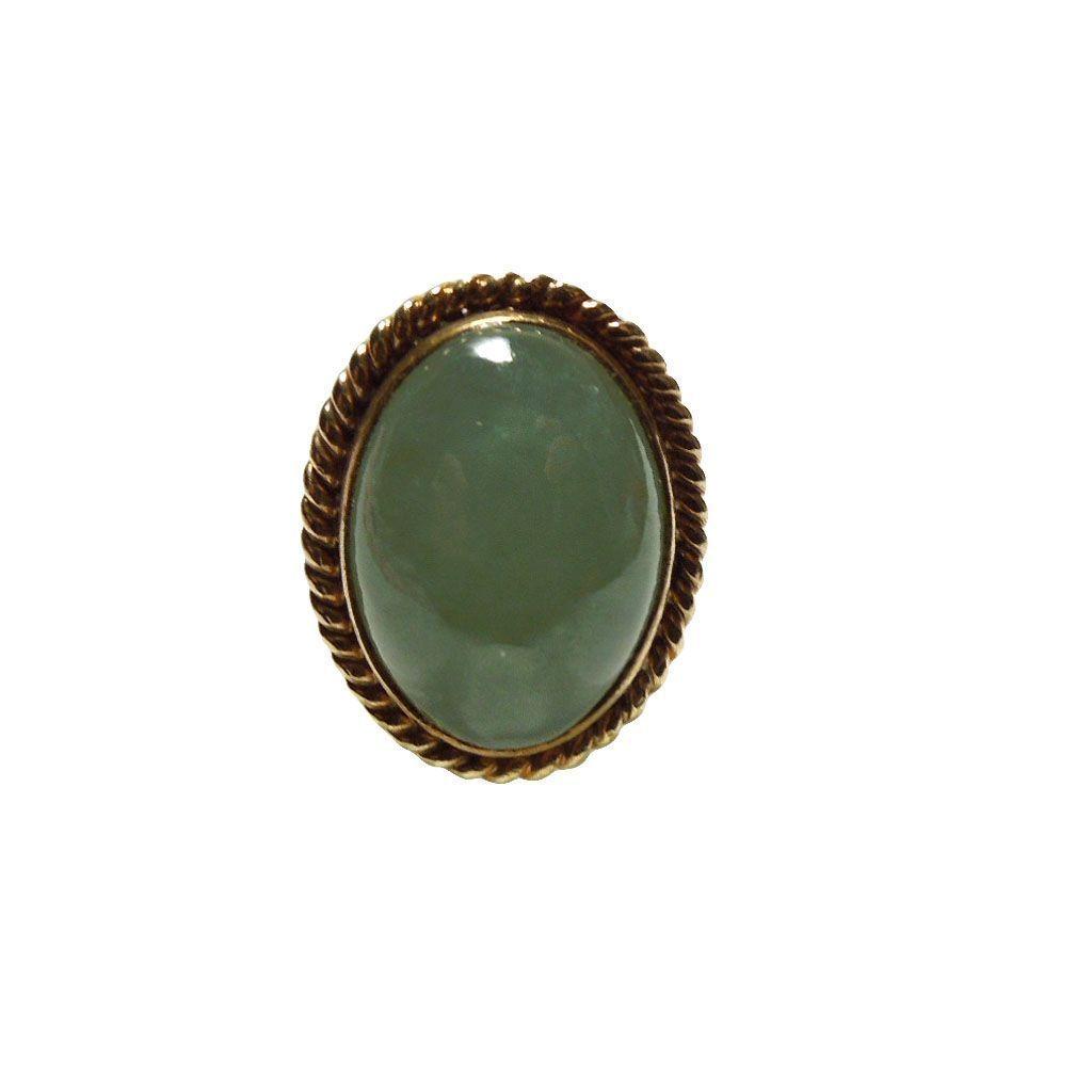 Vintage 14k Gold & Jade Ring