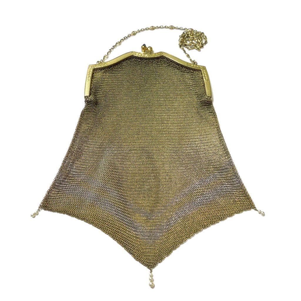 Gorgeous Antique Chain Mesh Bag
