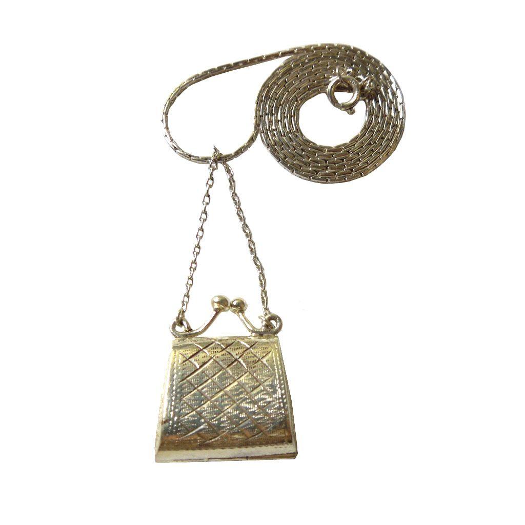 Sterling Figural Handbag Pendant/Locket