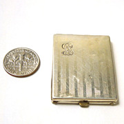 Vintage Sterling Mini Photo Holder Case