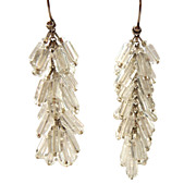 Vintage Sterling and Crystals Dangling Earrings