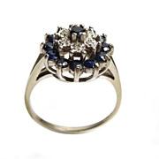 Sapphire Diamonds on 10K Gold Ring