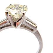 14K Diamond Solitaire Engagement Ring