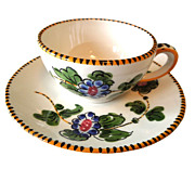 Set of 9 Espresso Cups and Saucers Italy