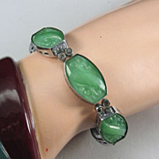 Art Deco Peking Glass Bracelet