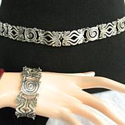 Rafael Melendez Mexican Bracelet and Belt Set Circa 1940