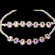 Watermelon Rhinestone Set of Bracelet and Necklace