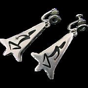 Los Castillo Modernist Shadowbox Dancer Earrings