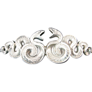 Spectacular Sterling Silver Snake Buckle by Kerr