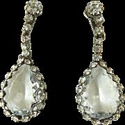 Large Caged Rhinestone Earrings