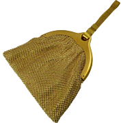 Schiaparelli for Whiting and Davis Gold Mesh Purse