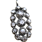 Timeless Georgian Rose Cut Diamond Converted Pendant Silver & 9k