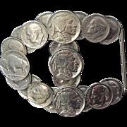 ROCKABILLY Belt Buckle Buffalo Nickels Dimes