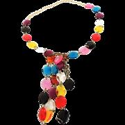 LUCITE Rainbow Gem Go Go Belt 1960s COOLEST Vintage