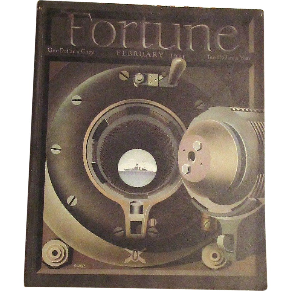 Feb. 1941  Fortune Magazine  Cover by Giusti  Military  WWII