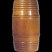 1930's   Tobacco  Humidor  Barrel   Wood Turned