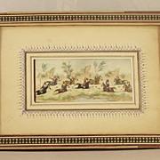 Persian Miniature Painting on Bone POLO PLAYERS