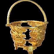 Gilt Bronze Jardiniere or Centerpiece Basket Baccarat French France
