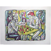 Irving Amen  The Chess Strategy  Print Signed  10/300