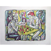 Irving Amen The Chess Strategy Print Signed 36/300