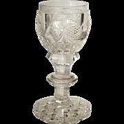 1790-1820 RARE Cut Glass  Sherry Cordial  Anglo Irish  MUSEUM QUALITY
