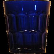 RARE  Flint  EAPG  Tumbler  Deep Blue  c.1840-70   Three Mold