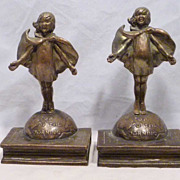 TOP O' THE MORNING bookends by Laura Archibald for Pompeian Bronze