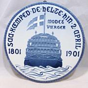 1901 Bing & Grondahl Commemorative Plaque with Ship CM16