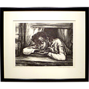 "Original Marion Greenwood AAA Lithograph ""The Window"""