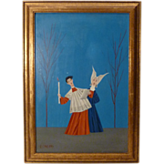 Veniero Canevari Original Midcentury Oil on Panel