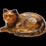 Lifesize Vintage Folk Art Chalk Cat