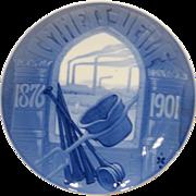 1901 Bing & Grondahl Commemorative Plate C. M. Hess Foundry 25 Years