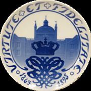 1898 Bing & Grondahl Commemorative Plate Fredensborg Castle