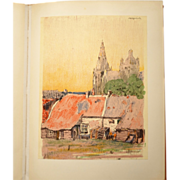 Germ de Jong Vintage Bound Collection of Dutch Lithographs