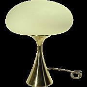 1960s Laurel Mushroom Table Lamp w/ Brass Base