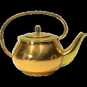 Vintage German Brass & Copper Teapot
