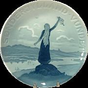1920 Commemorative Bing & Grondahl Plate Sonderjylland Vundet