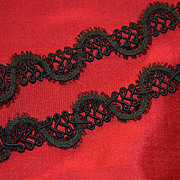 c. 1870s Ornate French Braid Trim, Resembles Soutache Design, Yardage