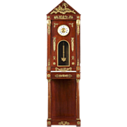 French Empire Egyptian Revival Longcase Clock 1910, R.J. Horner