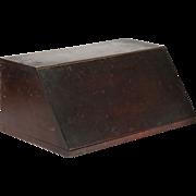 American Mahogany Antique Letter Box, Miniature Desk, 19th Century
