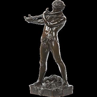 SALE Felix Charpentier French Bronze Sculpture of Improvisor, Improvisateur