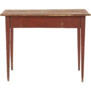 American Scrubbed Pine Harvest Table, Antique 19th Century, Pennsylvania