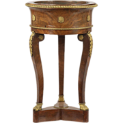 Fine French Empire Gilt Bronze Jardiniere Plant Stand c. 1815 with Dirk Van Erp Copper Vessel