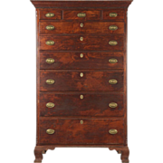 Fine Pennsylvania Highboy Tall Chest of Drawers, Antique c. 1790