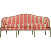 French Louis XVI Antique Settee Sofa c. Late 18th Century