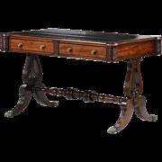 English Antique Writing Desk Table, William IV c. 1830