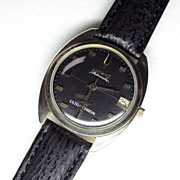 Vintage 60's 14K Yellow Gold Longines Automatic Ultra Chron Watch with Date