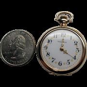 Antique Ladies American Waltham 14K Gold Pocket Watch