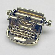 """Vintage Moving 3D 14K Yellow Gold """"Typewriter"""" Charm"""